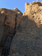 Rock Climbing Photo: Bullets over Baghdad follow the prominent arete ri...