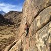 """Ally G. climbing """"Solar Power"""""""