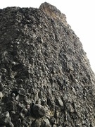 Rock Climbing Photo: Not as Beefy as Your Bolts ascents the corner in t...