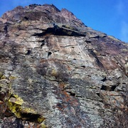 Morgan pulling the roof on Tap Dancing (5.11), Ophir, CO.