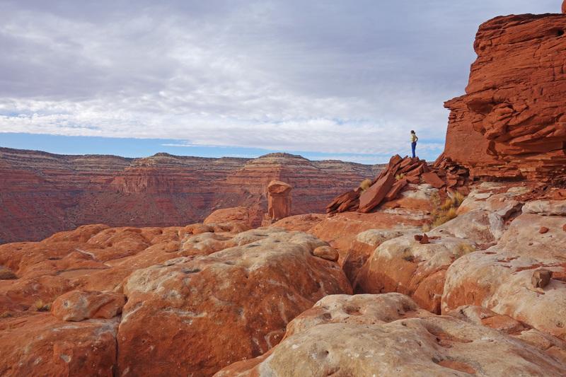 On the summit plateau.