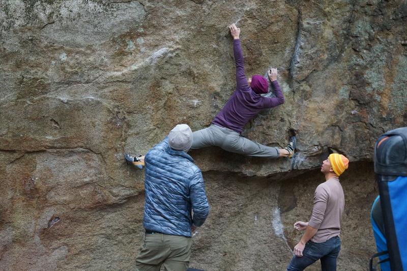 Greylin bridging the gap with her legs. Doobin Im for the photo creds.