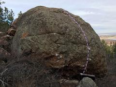 Rock Climbing Photo: The backside of the Rhino Boulder.  Purple: When...