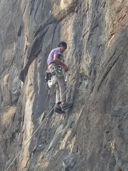 Sandeep Bhagyawant on Mountain Day