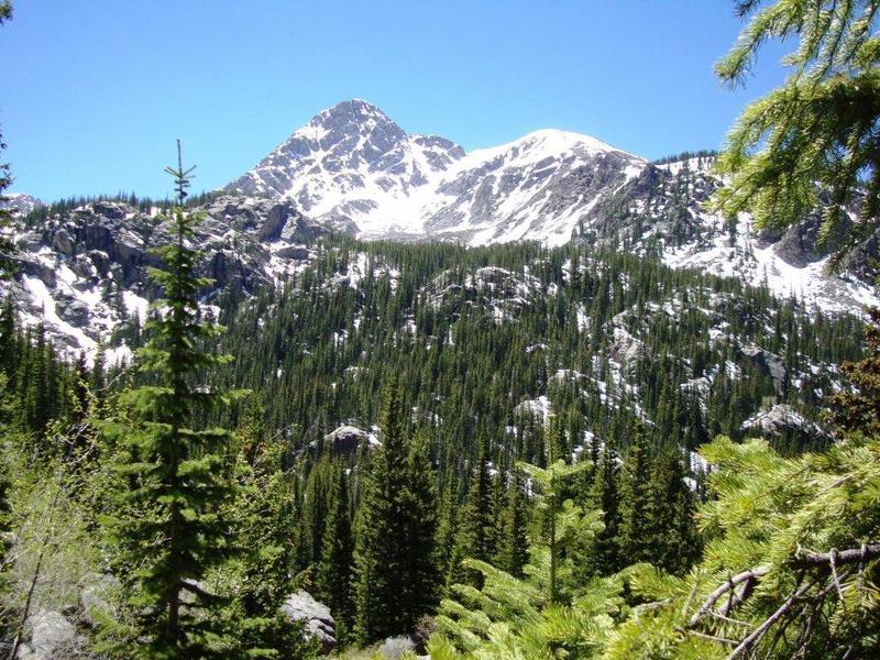 First glimpse of Mount of the Holy Cross  after crossing Half Moon Pass.<br> <br> Mid Summer, 2016.