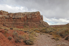 Rock Climbing Photo: The Bluff Member, as seen from the wash in the Rou...