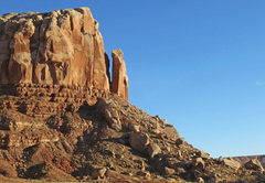 Rock Climbing Photo: The Bluff Member, seen from the wash of the Roundh...