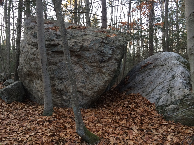 One perspective of the boulder