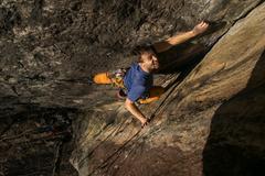 Rock Climbing Photo: Jeff in the glorious Corner