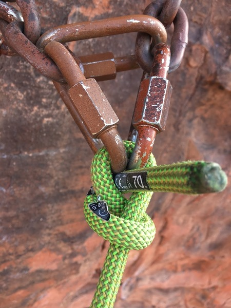 A route so good our rope didn't even want to leave.