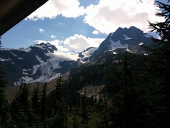 View from the anniversary glacier.