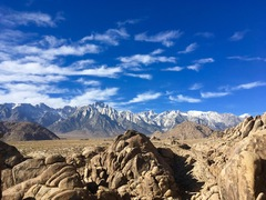Mt. Whitney & Lone Pine pk. from the Alabama Hills