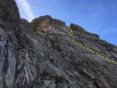 Rough path of P2-5, viewed from well south of the route.