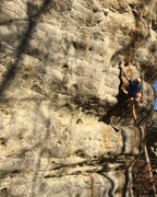 Local sticking the redpoint crux.
