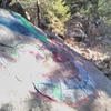10'x10' spray paint mural north of the Gill Boulder.