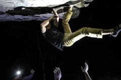 Rock Climbing Photo: Melnic = Reverse Super Man. Kick Boxer