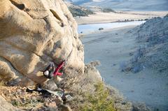Rock Climbing Photo: J. Christopher on 'Bobby Dazzla'