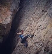 Rock Climbing Photo: Remy Franklin onsighting El Curvo, photo by Eli Me...