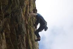 Rock Climbing Photo: onsighting Raven Maniac, photo by Eli Medvescek