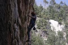 Rock Climbing Photo: Jaspur on Swing Set, photo by Eli Medvescek