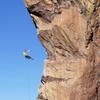 The best rappel in Boulder!<br> <br> Photo by Steven Langer.