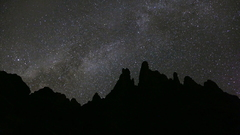 Petit and the Cathedral spires under the Milky Way.