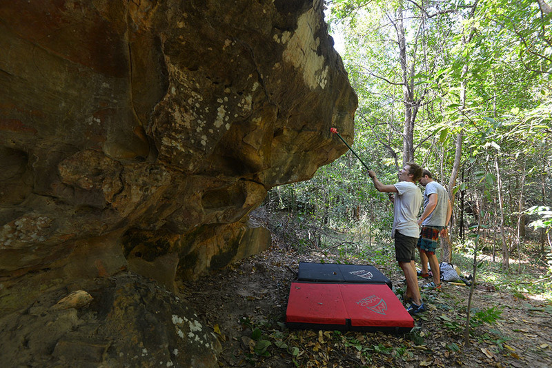 The over hang side of Mia Noi Boulder