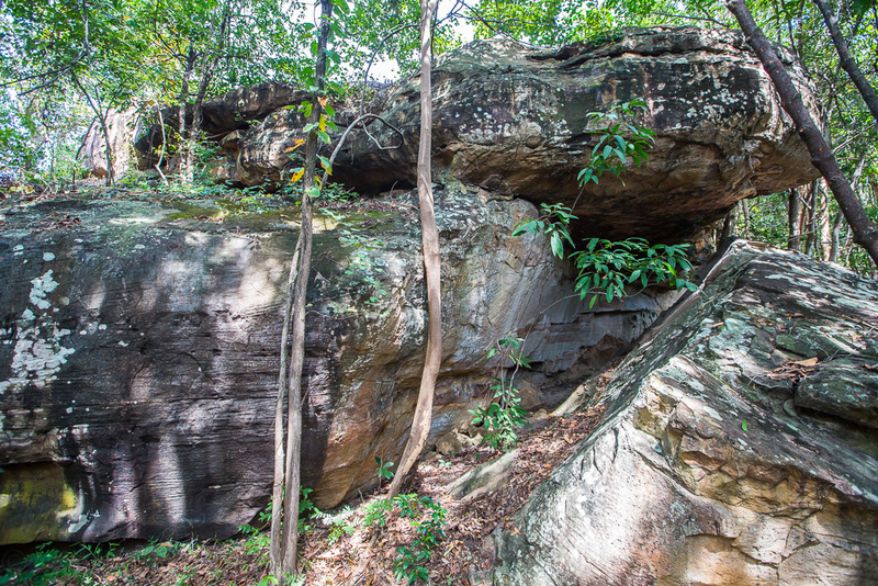 The cave side of Mia Noi Boulder