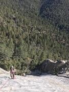 Rock Climbing Photo: Robert Gusich. Serpentine. 5.9. 12-2-17. Belaying...