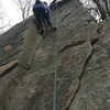 Climber on Jackknife New Years Day 2016