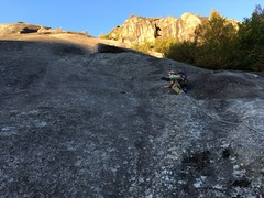 Messing around just before the crack section. Best part of the route.