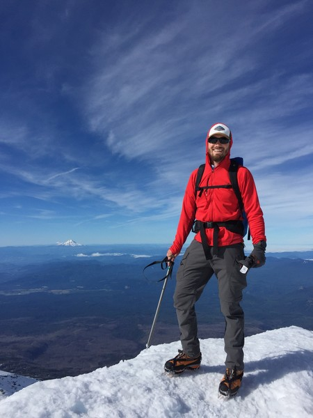 Blue-bird summit day Mt Adams