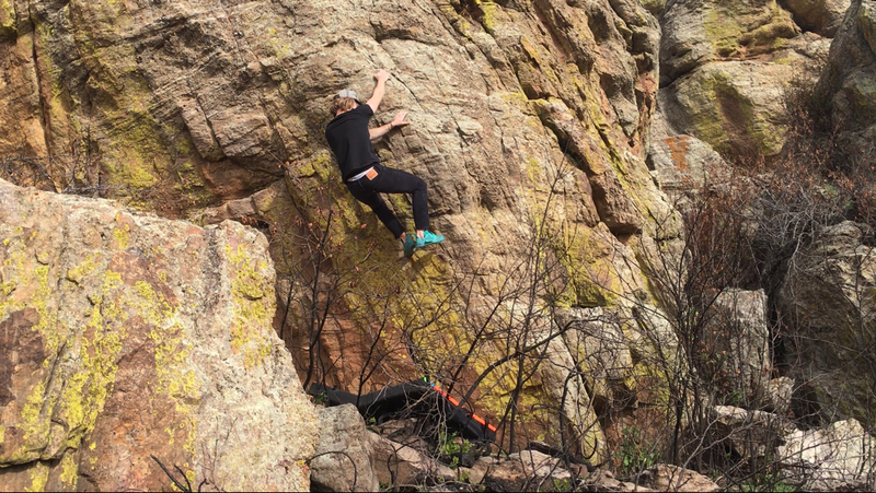 Scenic bouldering at Rabbit Mountain.