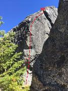 The Arete route on The Dome, Split Rock