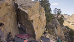 Andre on the start holds of Phish out of Water, V10/11.