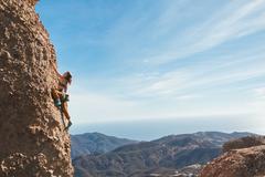 April Davidson Climbing Up To The Bulge on Venus
