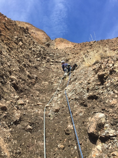 Geoff L leading off into P2 - Conduit to the Cosmos