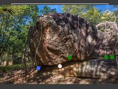 Rock Climbing Photo: Tokay Inn boulder, Ghost tongue sector