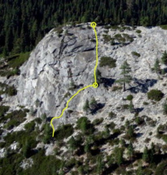 Topo of the route.