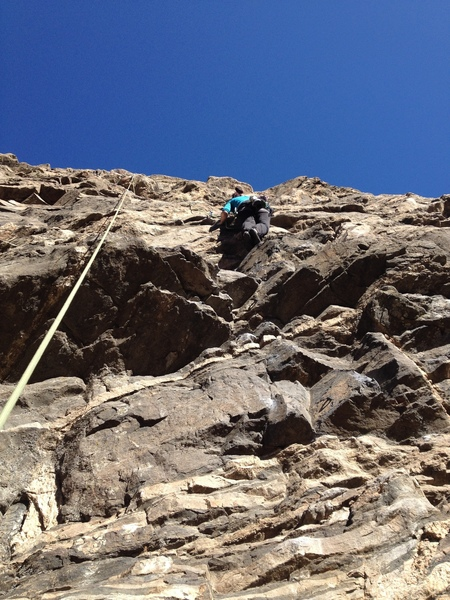 Above the crux area.