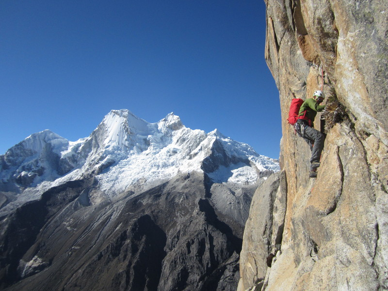 Classic climb on a bluebird day