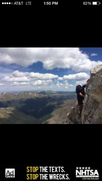 Dylan's 13th birthday climbing Capital.