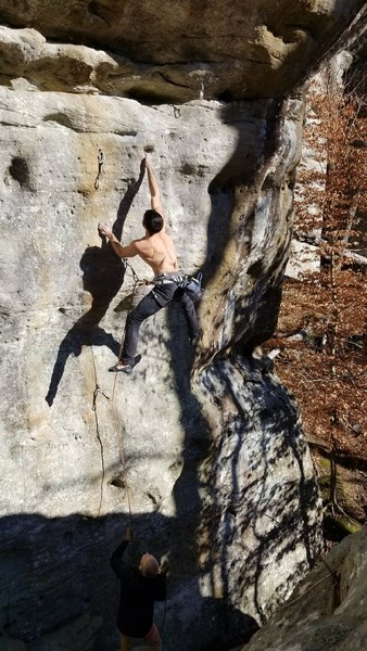 Local sticking the low crux.