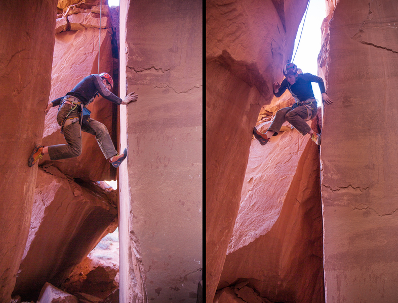 My patient belayer following Happily Ever Shafter after a long and tense belay while I Elvis-legged the FA while drilling on lead. 