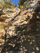 Rock Climbing Photo: Five bolts to a sport anchor.