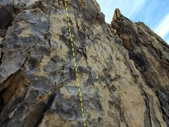 The climbing gets thinner as you ascend.