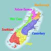 Regions of South Island of NZ