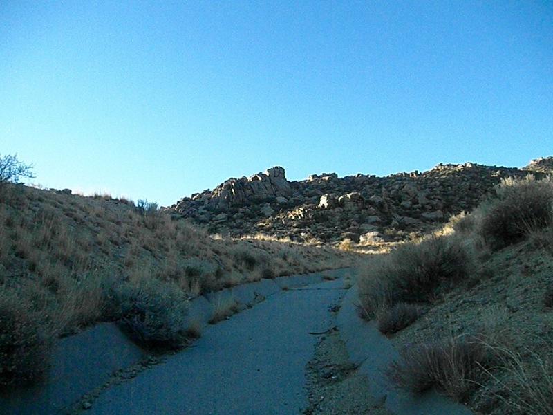 Carnuel Crag approach up the concrete sluice