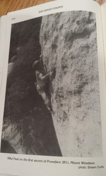 Badass photo from Craig Fry's So Cal Bouldering Guide.