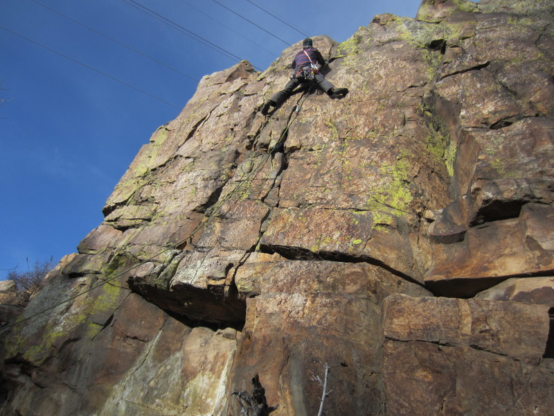The crux at the top.